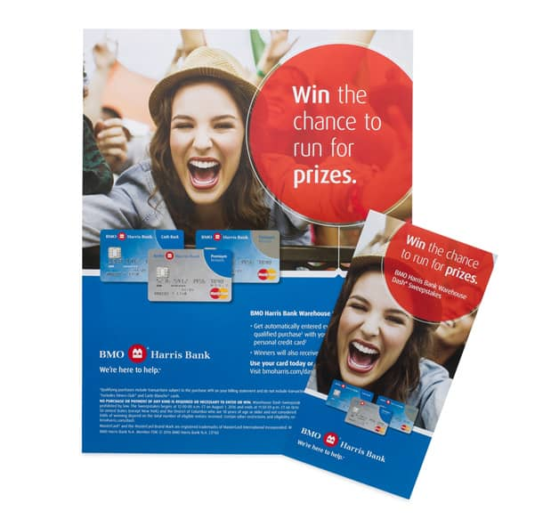 BMO Harris Bank professionally printed flyer sell sheets.
