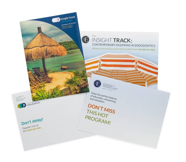 Insight Track customized printed flyers.